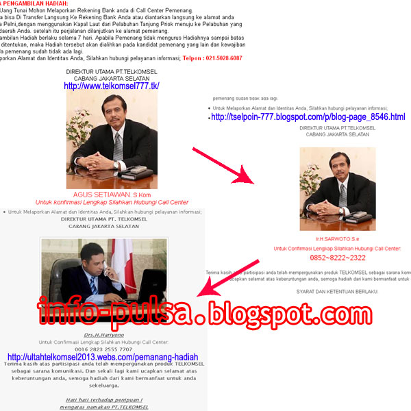 Contoh weblog-weblog yang menipu