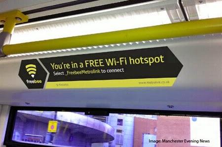 Manchester Metrolink Trams Free Wi-Fi