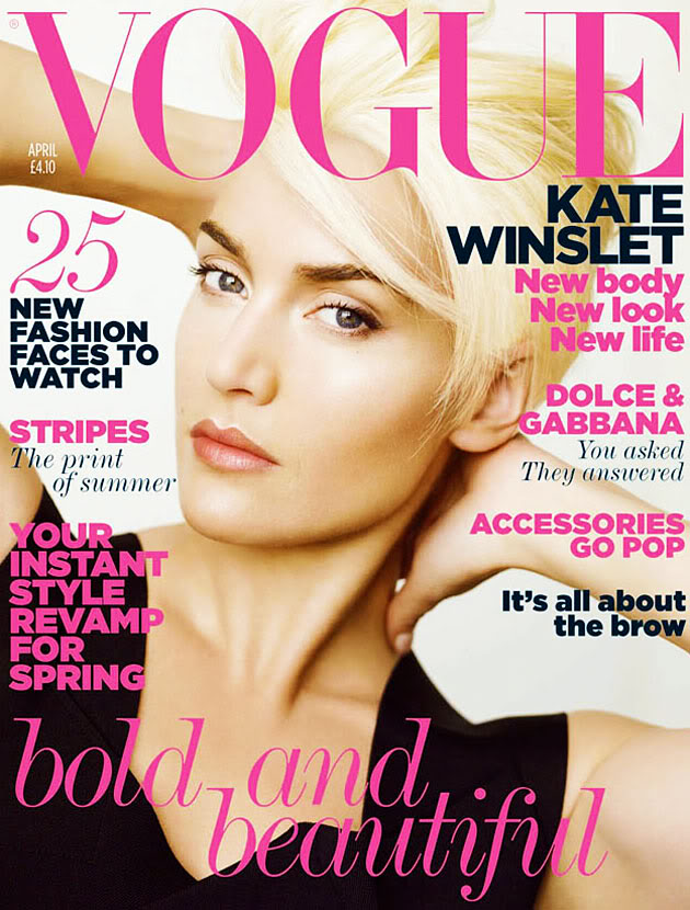 Kate Winslet 2011 Hair. Covers of April
