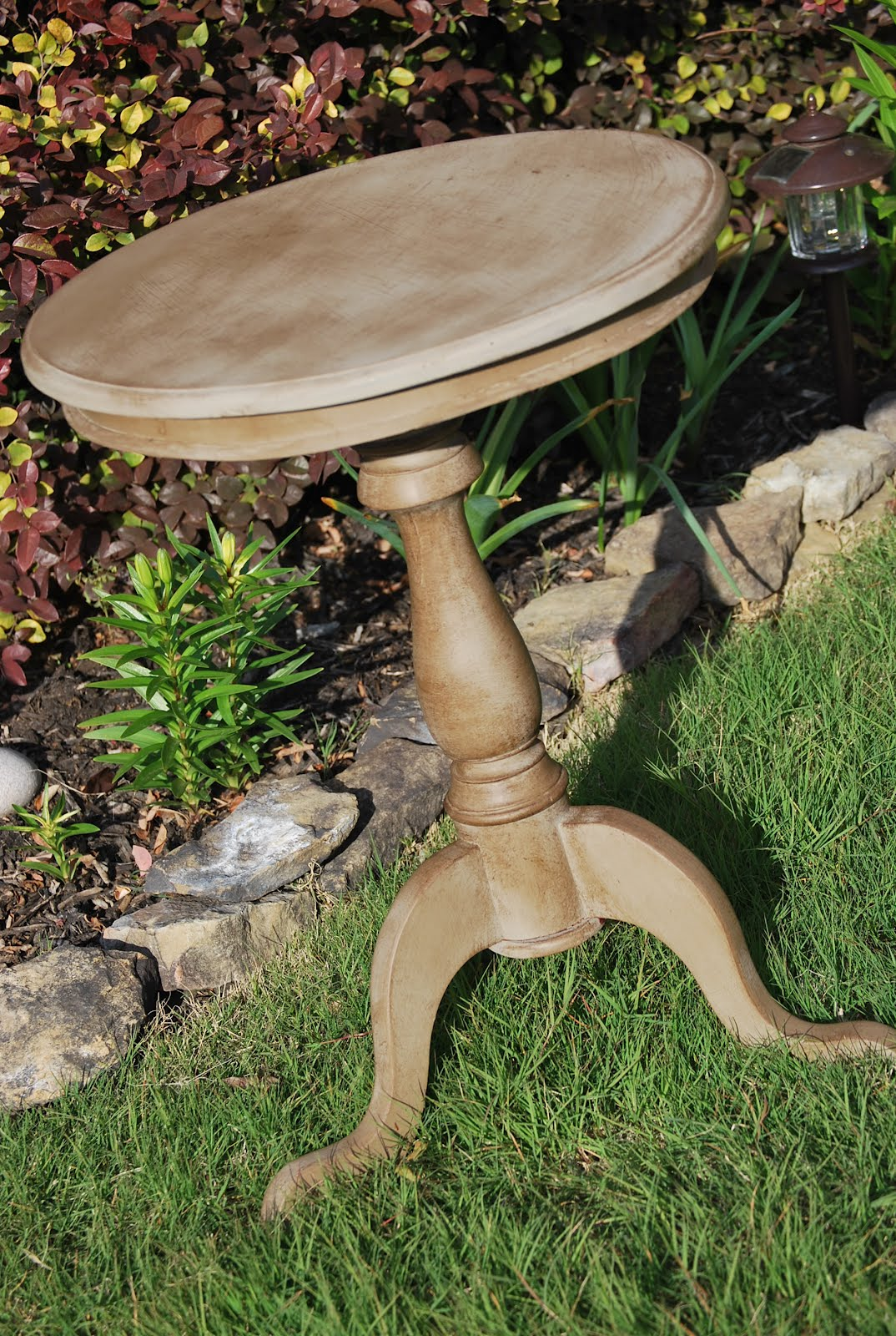Keeping Up With The Joneses Sofa Table Round Table - Painted round end table