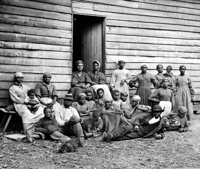 Photo of Some of the Slaves Who Built the White House