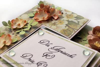 kartki okolicznościowe ręcznie robione kartka typu swing kartka urodzinowa weselna barbara wójcik