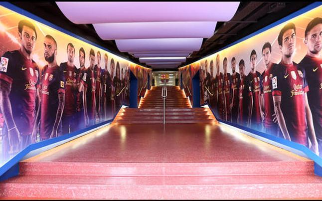 Barça estrenó su espectacular túnel de vestuarios