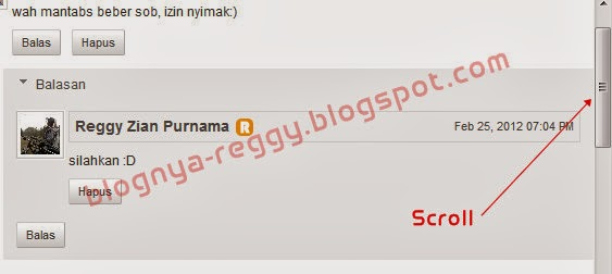 Cara memberi scroll pada Threaded comment blogger