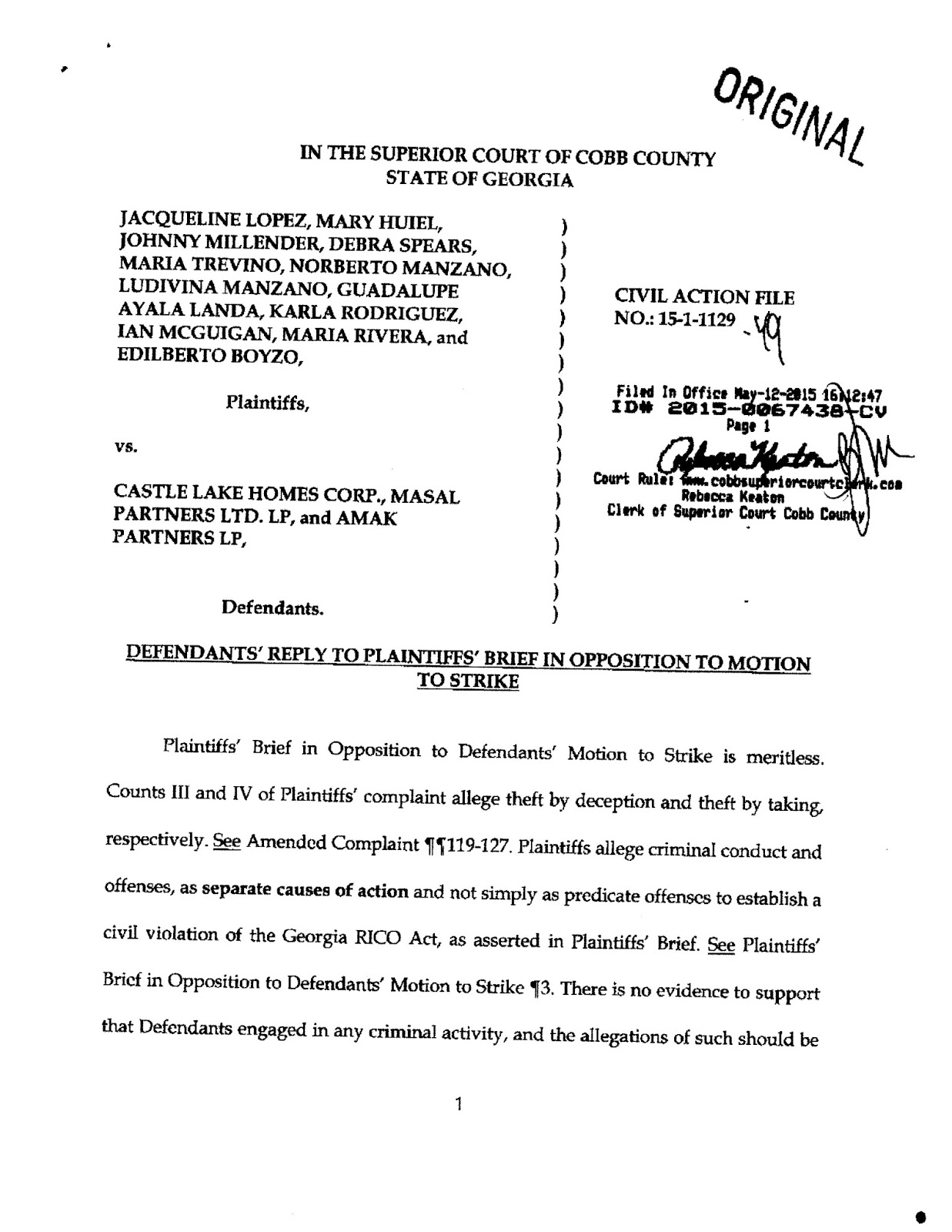 See The Above Document Directly On Court Site At Imagescobbsuperiorcourtclerkorg Web Viewerfile SUCV 20150067438PDF