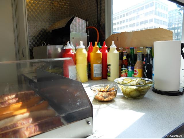 Polsevogn, Hot dog danois Copenhague condiments
