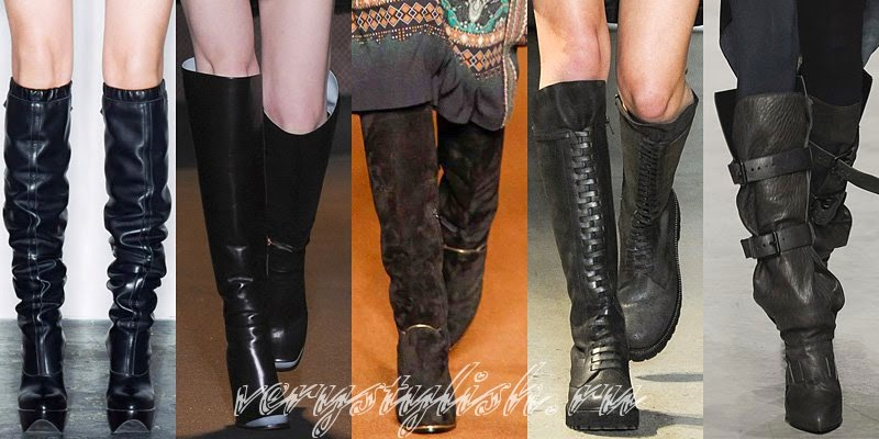 Winter 2015 Women's High Boots Fashion Trends