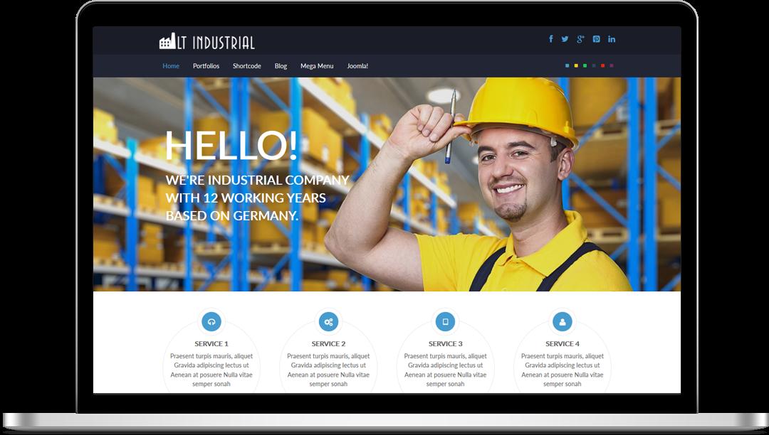 LT Industrial - Free Joomla! Template