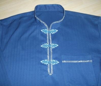 Baju Melayu Moden - Kolar Mendarin