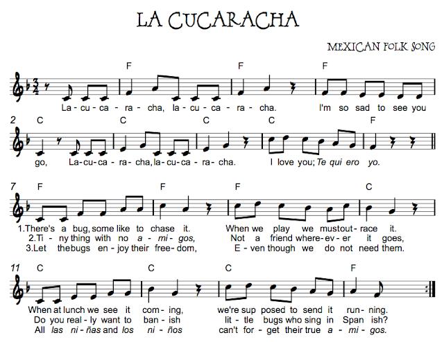 La cucaracha beth s notes