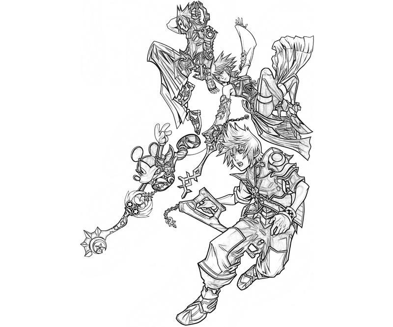 Kingdom Hearts Roxas Characters Yumiko Fujiwara Kingdom Hearts Coloring Page