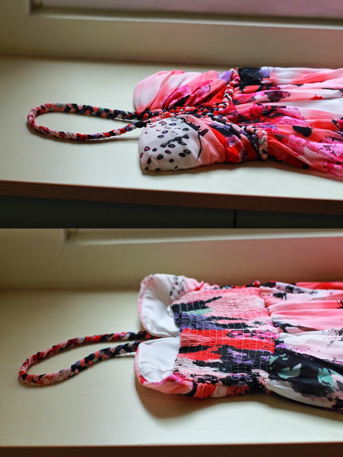BEBI 淘寶 - 麻花繞脖紅色印花