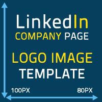 Linkedin company page logo image template