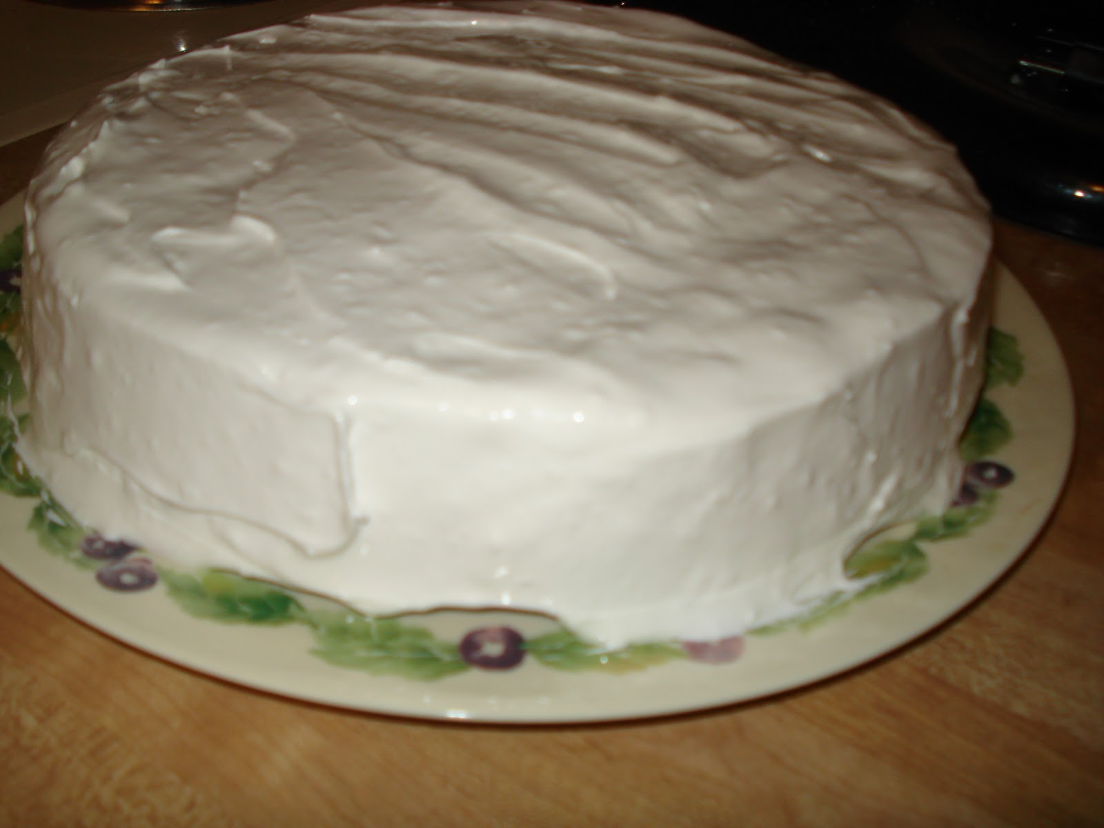 The Social Baker: Rich Chocolate Cake with Fluffy White Frosting