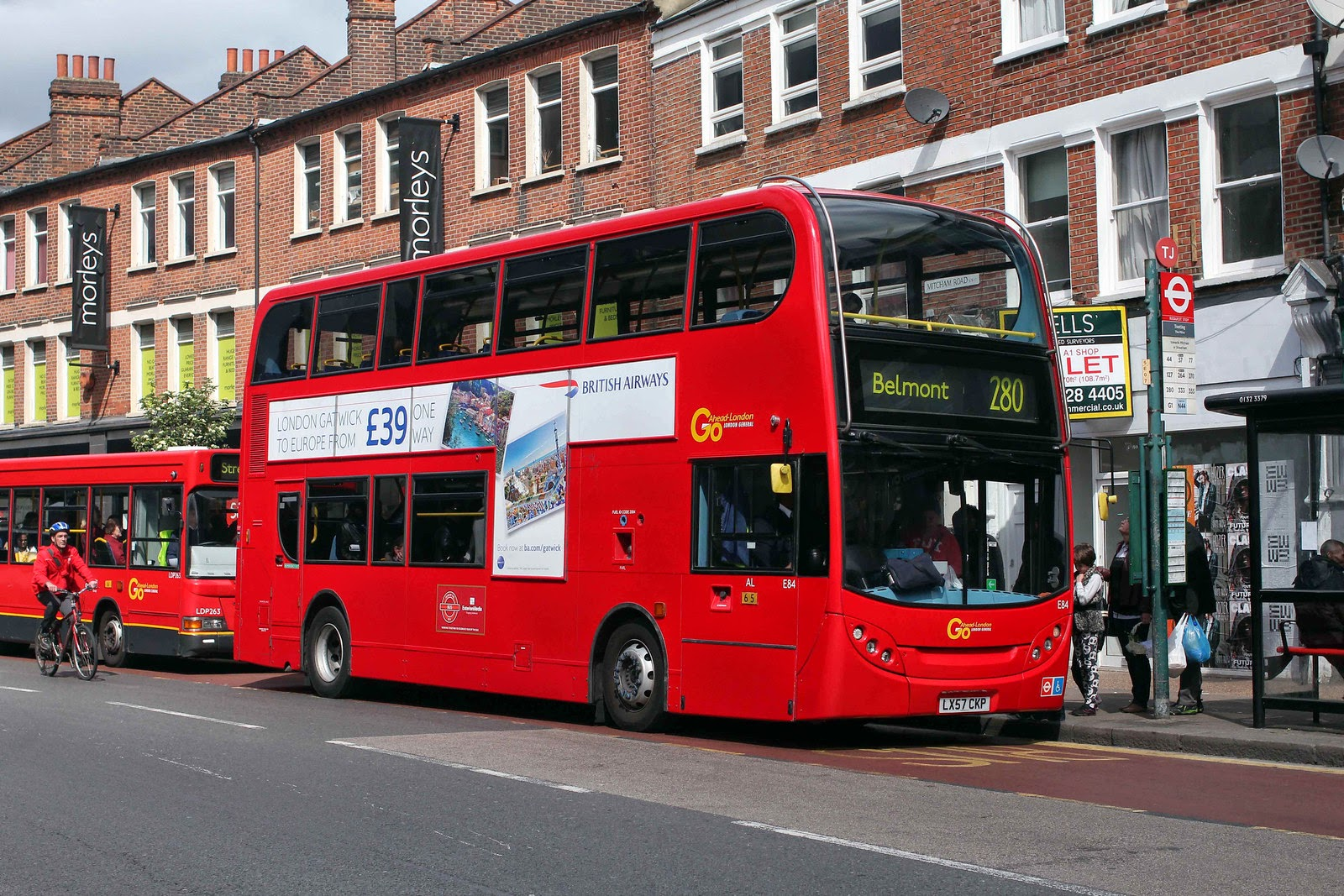 Bus advertising - integrated campaign