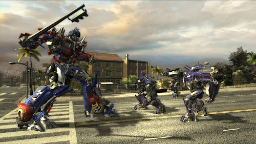 Screen Shot Of Transformers The Game (2007) Full PC Game Free Download At worldfree4u.com