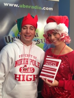 Candycane Claus with her publisher, Mr. Dan.