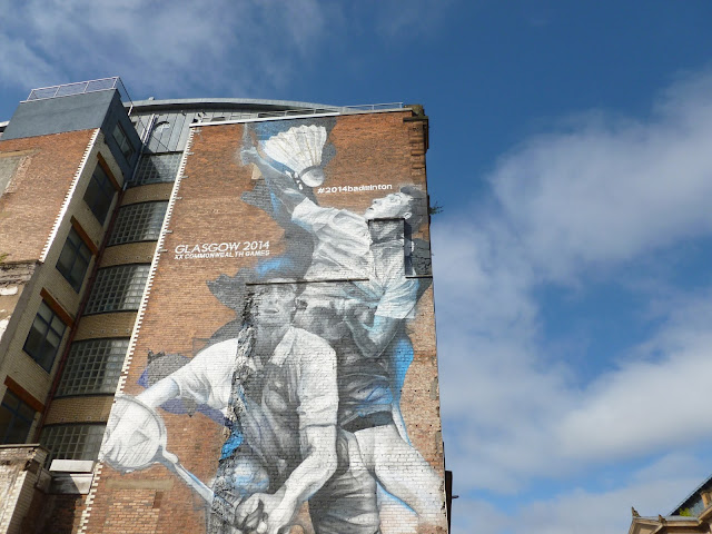 Van Helten Badminton graffiti Glasgow