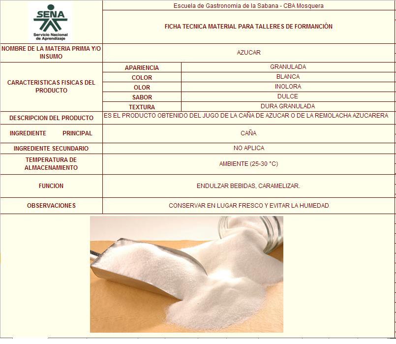 Gastronomia fichas tecnicas de abarrotes for Tecnicas basicas de cocina pdf