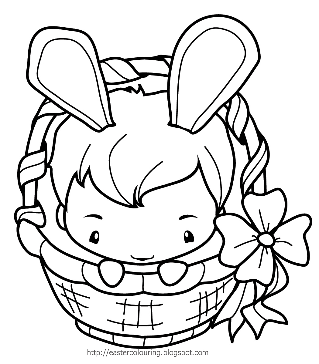 EASTER COLOURING EASTER BUNNY COLOURING IN PAGES