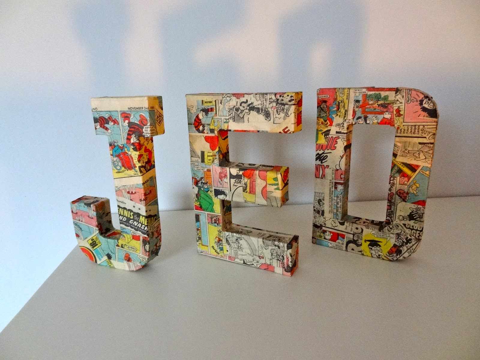 yewman projects blogs dogs frogs books 3d paper mache letters