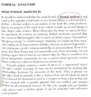 Formal analysis art essay
