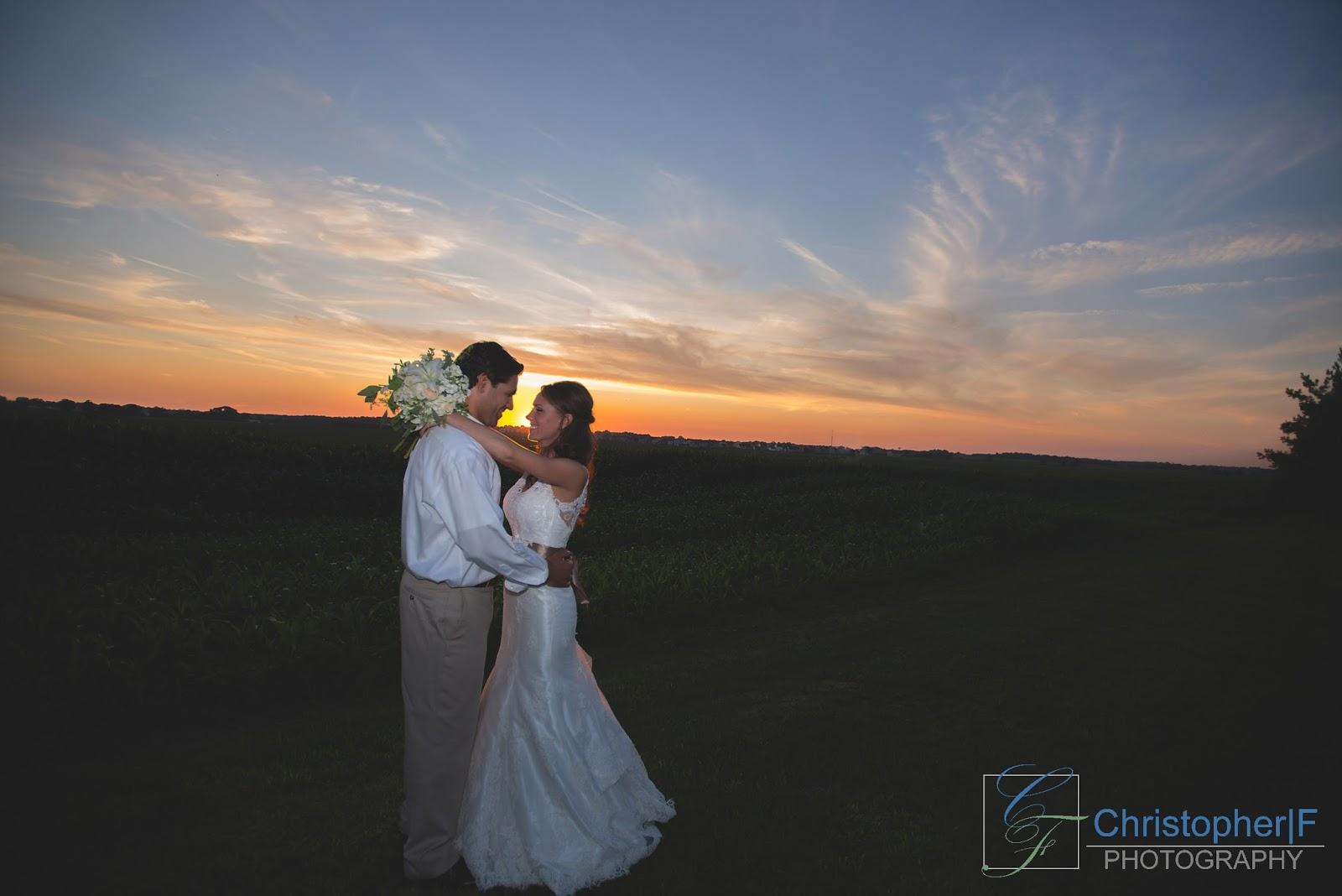 Chicago Sunset Wedding Portrait