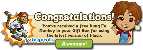 FarmVille Free Kung Fu Monkey Gift Notice