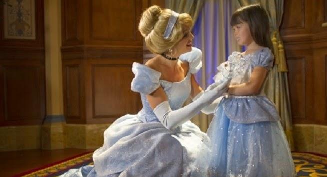 Onde encontrar a princesa Cinderela Orlando