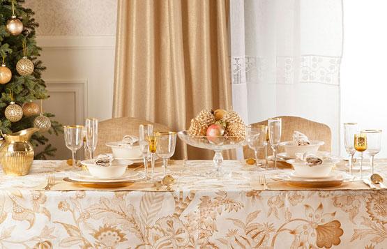 decorar la mesa en Navidad Nochevieja Zara Home