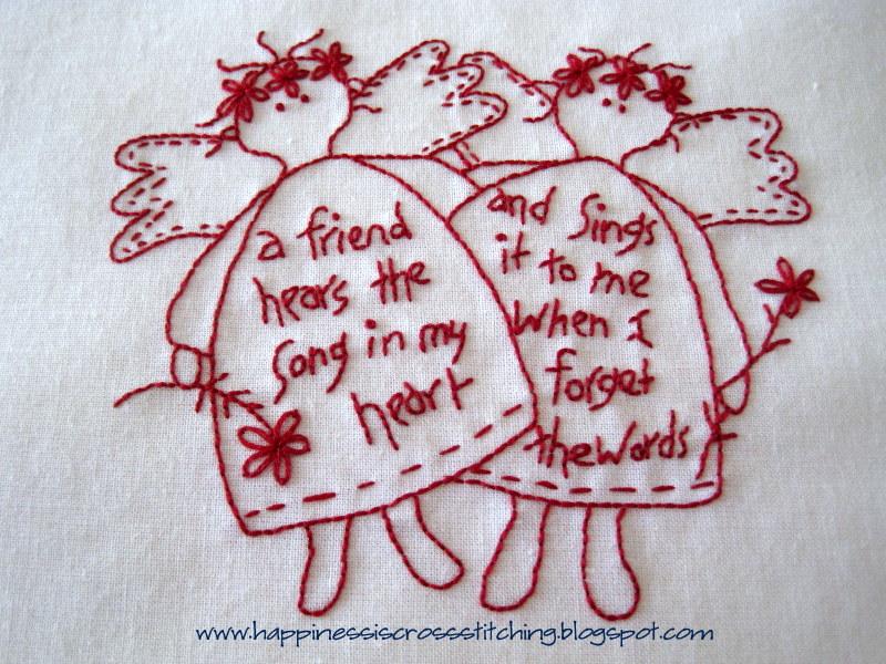 happiness is cross stitching free christmas stitchery