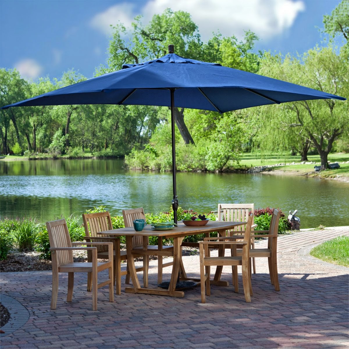 patio umbrellas coral coast rectangle