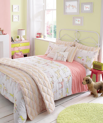 Kirstie Allsopp Top Dog Single Duvet Cover Set. Shown in a child's bedroom.