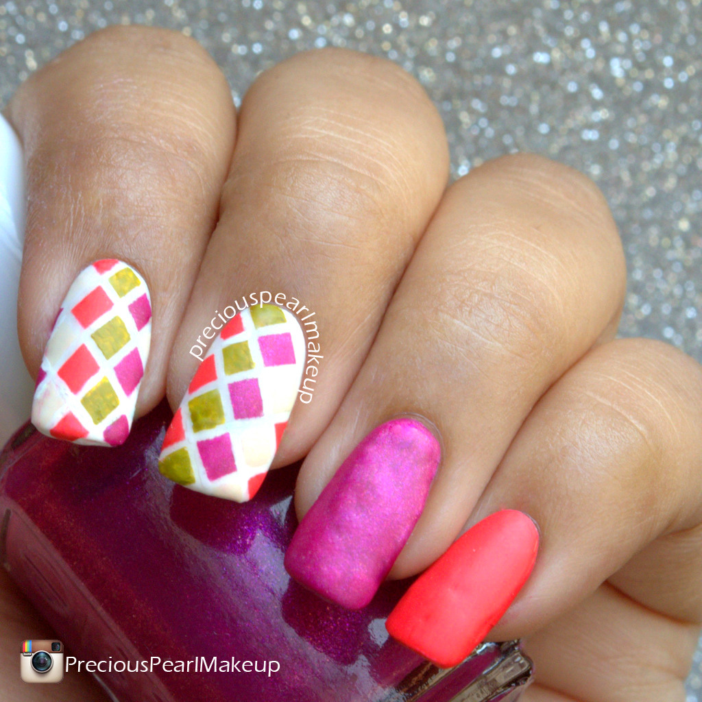 Preciouspearlmakeup 31dc2015 Day 24 The Circus Inspired Nails