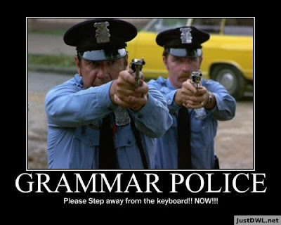 Grammar police step away from the keyboard now image