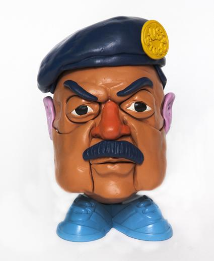 Saddam Hussein potato head Stephen Ives