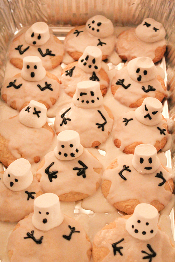 Melting Snowmen Sugar Cookies