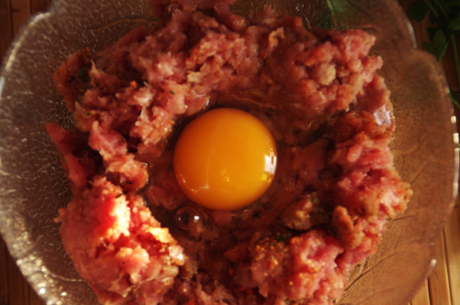 preparamos carne picada con huevo