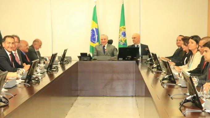 Em reunião com Temer, José Melo pede Forças Armadas nas fronteiras em Pacto Nacional contra crime organizado