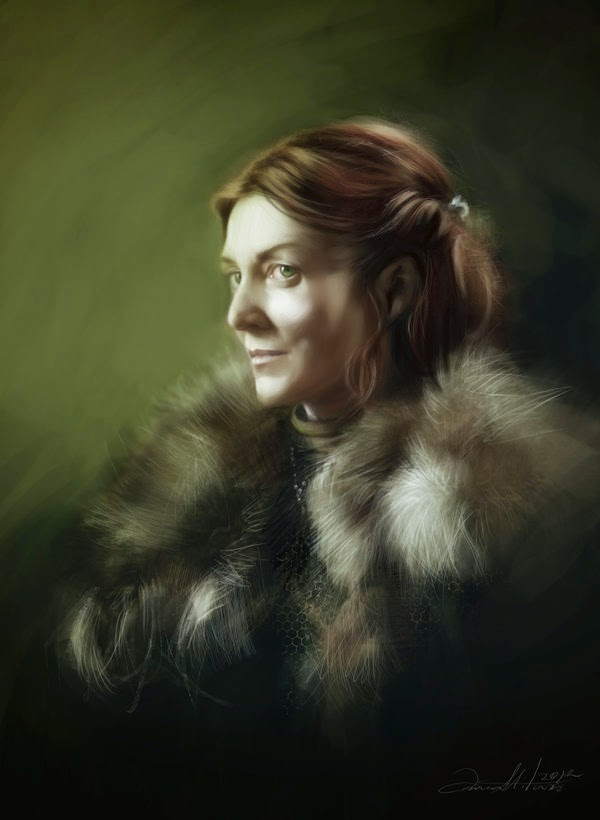 06-Catelyn-Stark-Ania Mitura-GoT-Game-of-Thrones-Digital-Paintings-www-designstack-co