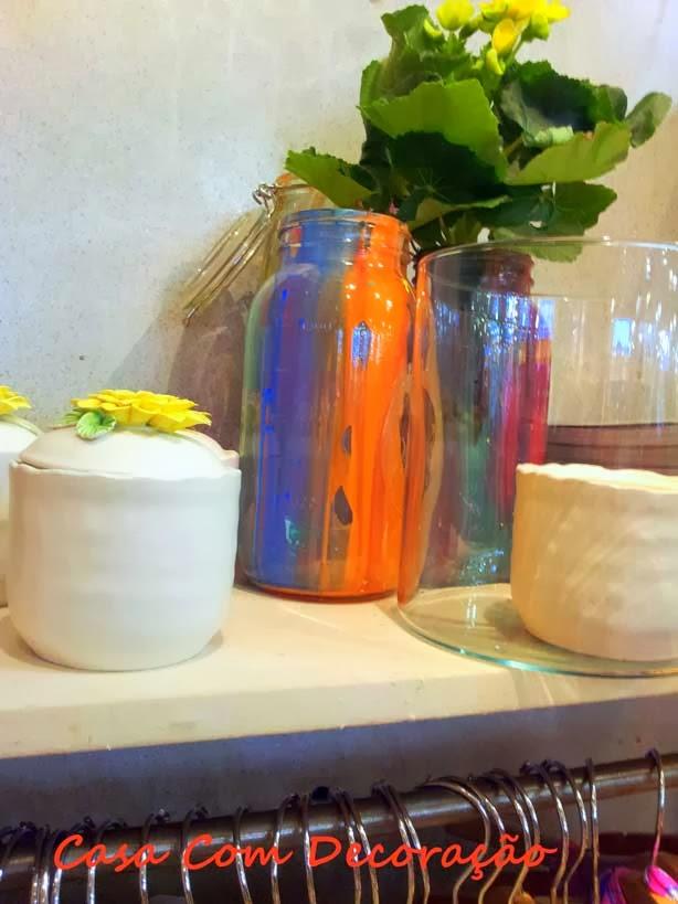 Reaproveitar potes de vidros na decoração