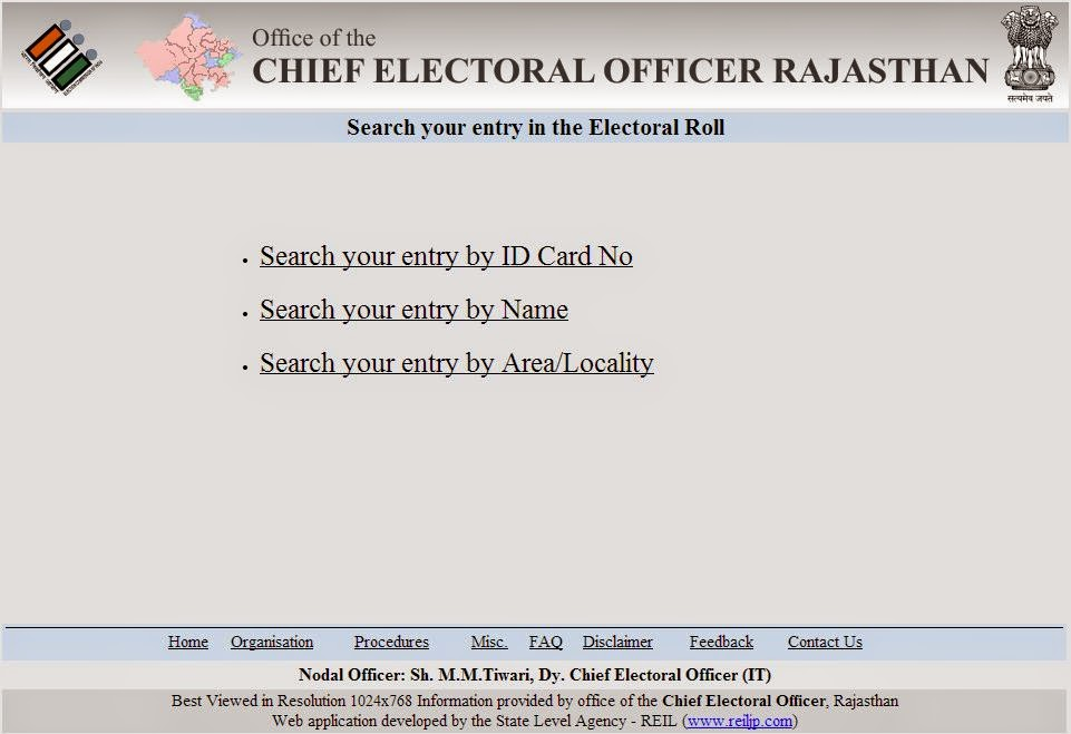 Rajasthan Voter List 2015 Check name with Photo online PDF in ...