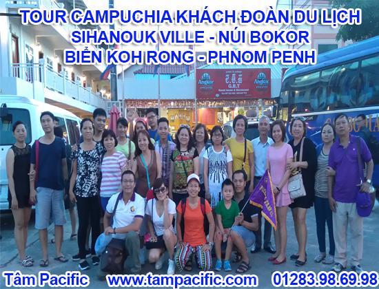 đoàn tour campuchia sihanouk bokor kohrong phnompenh