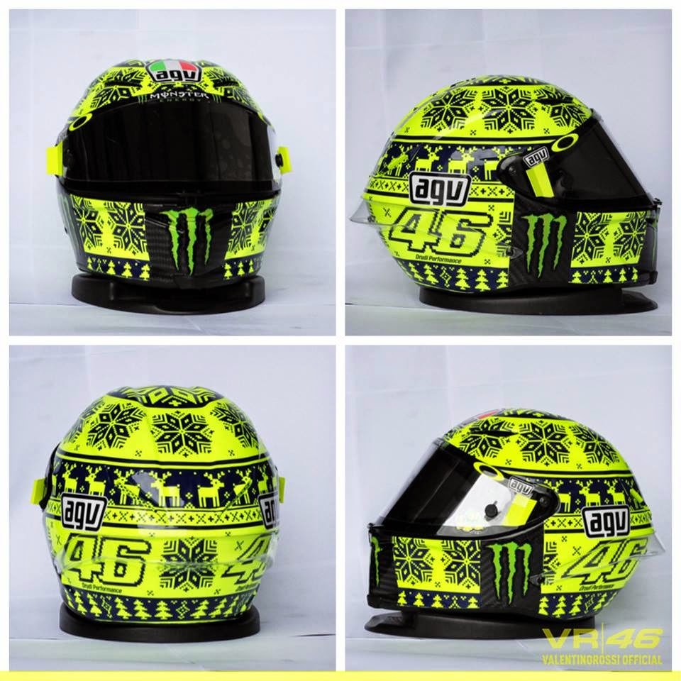 ducati forum agv corsa sepang wintertest helmet of vr46. Black Bedroom Furniture Sets. Home Design Ideas