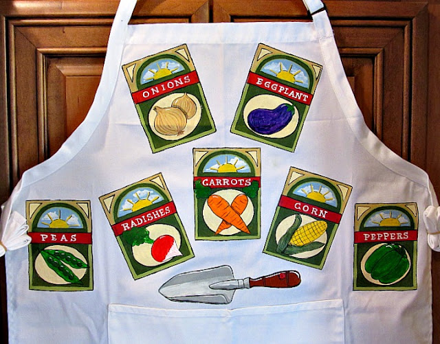 Garden Seed Packet Apron