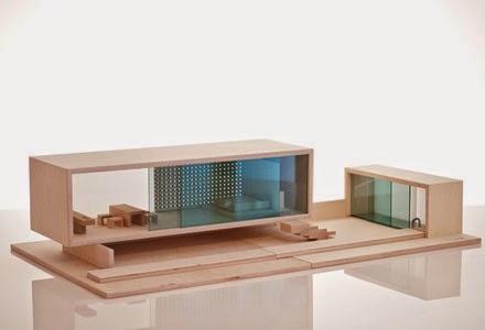 une villa avec un petit air de farnsworth house un grand bloc transparent tout en bois et quil est possible damnager sa guise le tout en bois avec - Maison Moderne Playmobil Klerelo