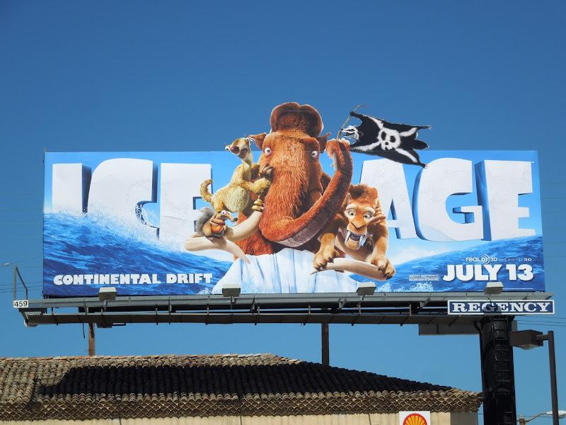 Ice Age Continental Drift movie billboard