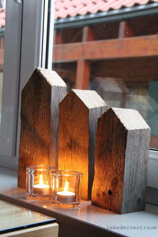 lebe deinen traum lichterstadt auf der fensterbank. Black Bedroom Furniture Sets. Home Design Ideas