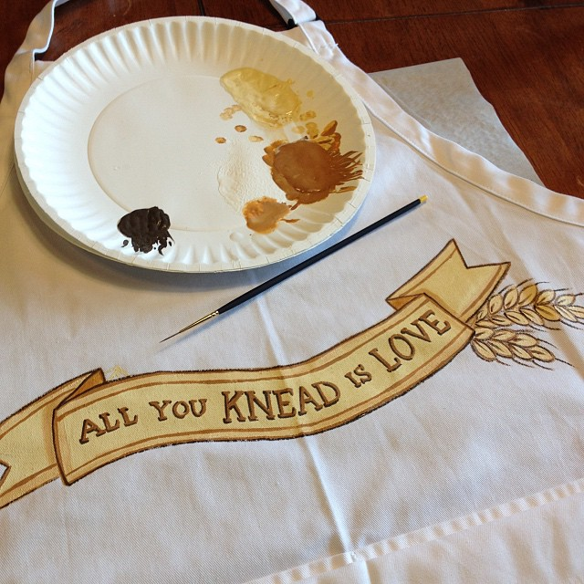 Bread Bakers Painted Apron