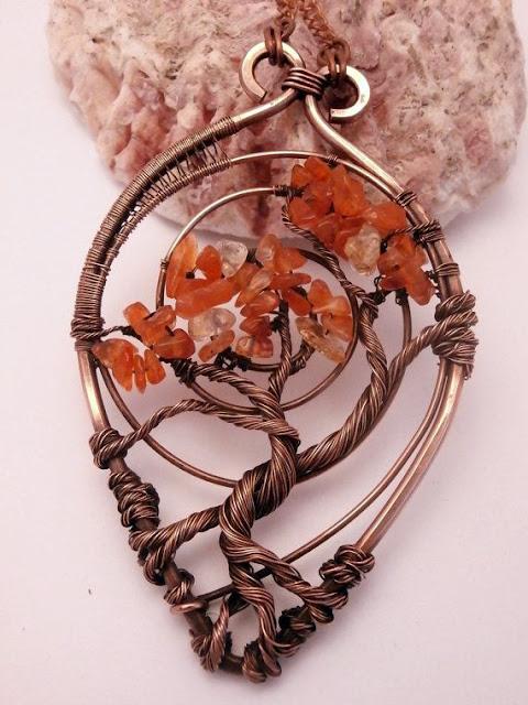 bizuteria z drutu i koralikow